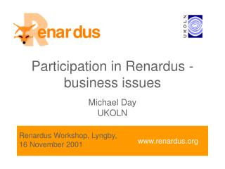 Participation in Renardus - business issues