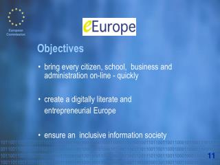 bring every citizen, school,  business and administration on-line - quickly