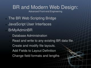 BR and Modern Web Design: Advanced Front-end Engineering