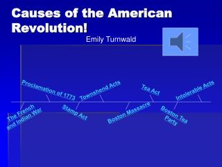 Causes of the American Revolution !