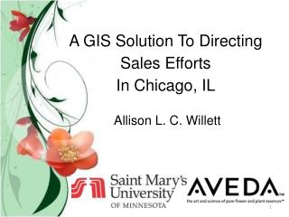 A GIS Solution To Directing  Sales Efforts  In Chicago, IL