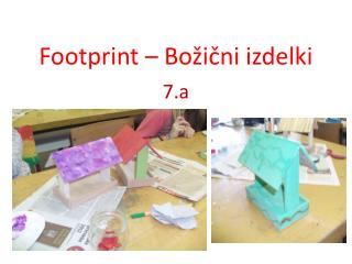 Footprint – Božični izdelki