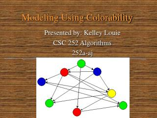 Modeling Using Colorability