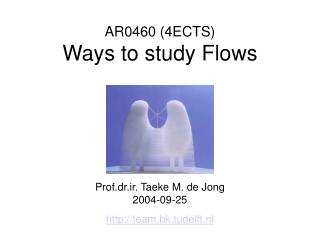 AR 0 460  (4ECTS) Ways to study Flows