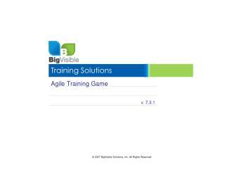 Agile Training Game