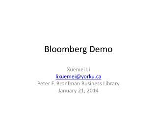 Bloomberg Demo