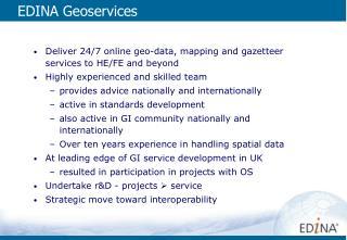 EDINA Geoservices
