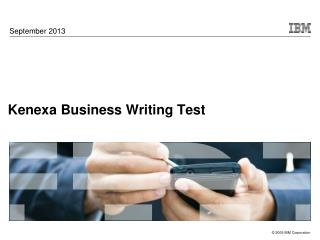 Kenexa Business Writing Test