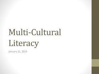 Multi-Cultural Literacy