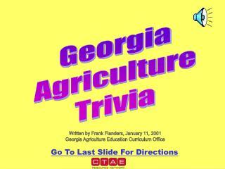Georgia Agriculture Trivia
