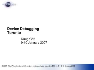 Device Debugging Toronto