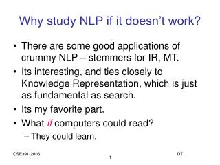 Why study NLP if it doesn't work?