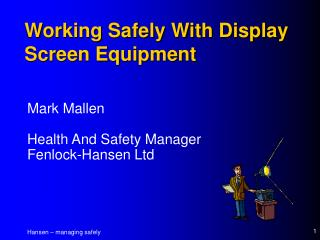 Working Safely With Display Screen Equipment