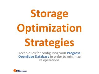 Storage Optimization Strategies
