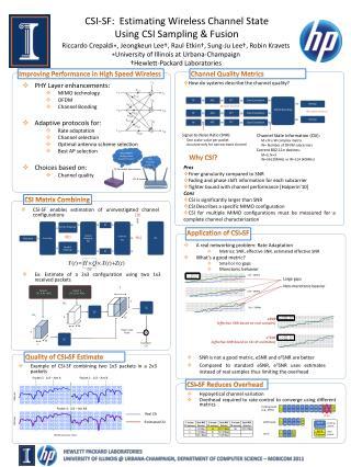 CSI-SF:  Estimating Wireless Channel State  Using CSI Sampling  Fusion
