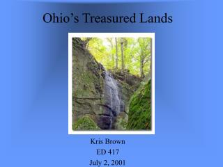 Ohio: Treasured Lands