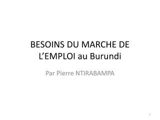 BESOINS DU MARCHE DE L'EMPLOI au Burundi