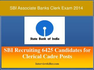 SBI Clerk Exam 2014 - Interviewkiller