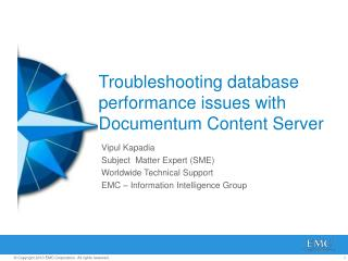 Troubleshooting database performance issues with Documentum Content Server