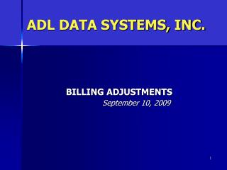ADL DATA SYSTEMS, INC.