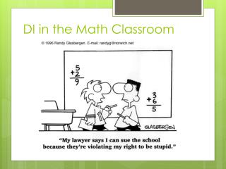 DI in the Math Classroom