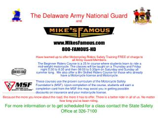 The Delaware Army National Guard and