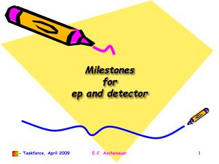 Milestones for  ep  and detector