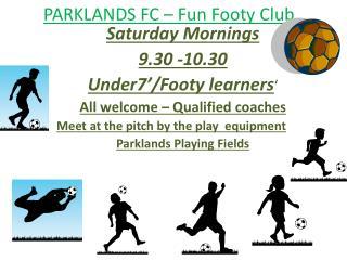 PARKLANDS FC – Fun Footy Club