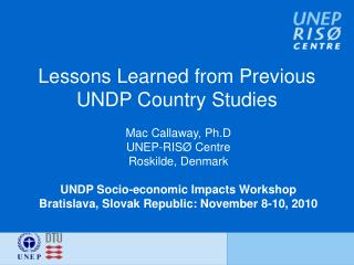 Lessons Learned from Previous UNDP Country Studies