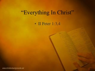 """Everything In Christ"""