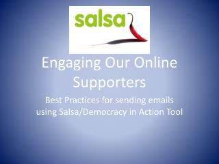 Engaging Our Online Supporters