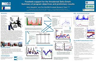 Foodweb support for the threatened Delta Smelt: