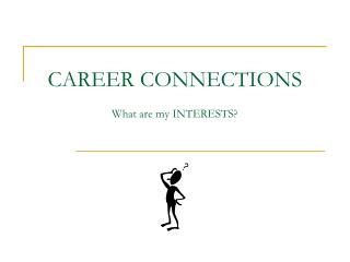 CAREER CONNECTIONS What are my INTERESTS?