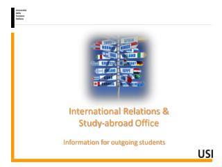 International Relations &  Study-abroad  Office Information for  outgoing students