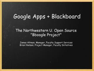 Google Apps + Blackboard