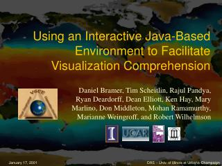 Using an Interactive Java-Based Environment to Facilitate Visualization Comprehension