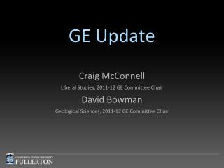 GE Update