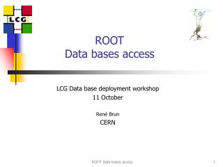 ROOT  Data bases access