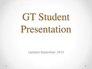 GT Student Presentation