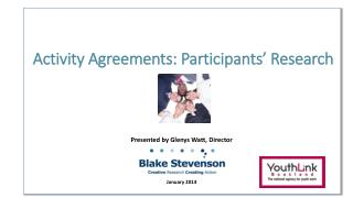 Activity  Agreements: Participants' Research