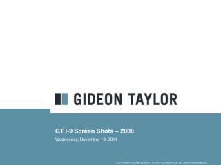 GT I-9 Screen Shots – 2008