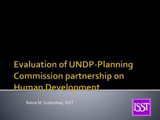 Evaluation of UNDP-Planning Commission partnership on Human Development