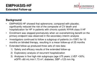 EMPHASIS-HF Extended Follow-up