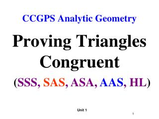CCGPS Analytic Geometry