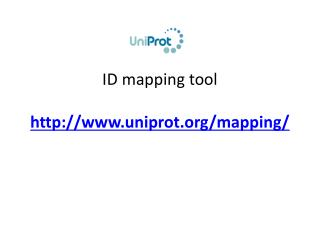 ID  mapping tool uniprot/mapping/