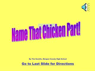 Name That Chicken Part!