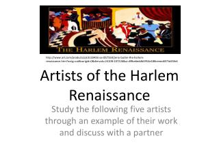 Artists of the Harlem Renaissance