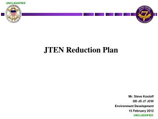 JTEN Reduction Plan