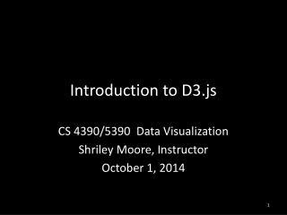 Introduction to D3.js