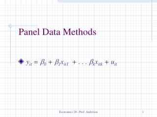 Panel Data Methods